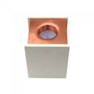 Επιφανειακό φωτιστικό Spot GU10 Γύψινο Τετράγωνο με σώμα λευκό με ροζ χαλκό V-TAC 3115