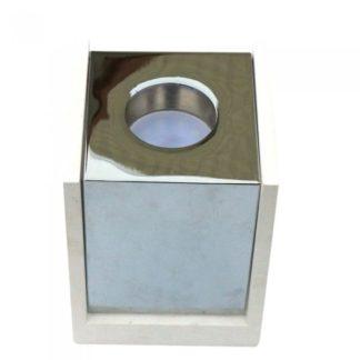 Επιφανειακό φωτιστικό Spot GU10 Γύψινο Τετράγωνο με σώμα λευκό με χρώμιο V-TAC 3116