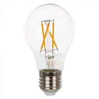 Λάμπα LED E27 A60 Cross Filament 4W Θερμό λευκό 2700K Γυαλί διάφανο vtac 42591