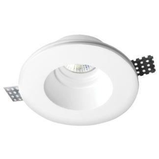 Φωτιστικό γύψινο χωνευτό Ø130mm στρογγυλό λευκό GU10 VK 64174-221131