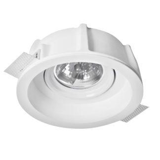 Φωτιστικό γύψινο χωνευτό στρογγυλό λευκό G53 R111 VK 64174-249131