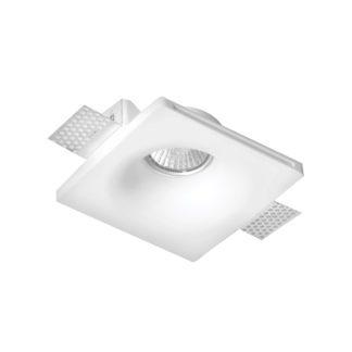 Φωτιστικό γύψινο χωνευτό τετράγωνο λευκό 120mm GU10 VK 64174-248131