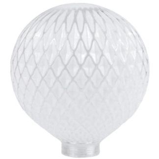 Φωτιστικό σετ vintage με κρυστάλλινο διαφανές γυαλί αντάπτορα Ε27-Ε14 διακοσμητική filament λάμπα EL825101