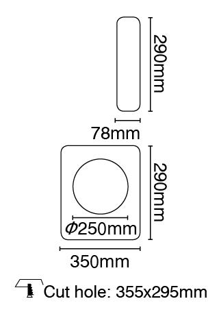Φωτιστικό τοίχου γύψινο χωνευτό ορθογώνιο λευκό, GU10, VK 64174-247131 2