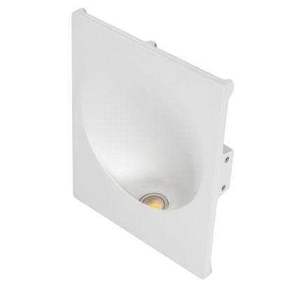 Φωτιστικό τοίχου γύψινο χωνευτό ορθογώνιο λευκό, GU10, VK 64174-247131