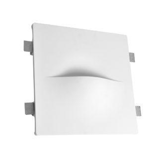 Φωτιστικό τοίχου γύψινο χωνευτό τετράγωνο λευκό, G9, VK64174-240131