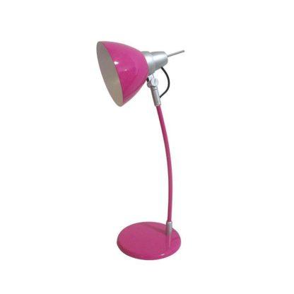 Φωτιστικό γραφείου μεταλλικό ροζ με ντουί Ε14 & με 1,5m καλώδιο 147-55441