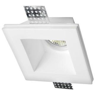Φωτιστικό γύψινο χωνευτό στρογγυλό λευκό GU10 VK 64174-223131