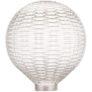 Vintage φωτιστικό set με κρυστάλλινο διαφανές γυαλί +αντάπτωρα Ε27-Ε14 +διακοσμητική fillament λάμπα 4W EL825103