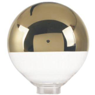 Vintage set φωτιστικό γυάλινο χρυσό-διάφανο 125x140mm +αντάπτωρα E27-E14 +διακοσμητική fillament λάμπα 4W EL825111