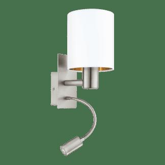 Απλίκα Ø15 Σε Λευκό Και Χάλκινο Χρώμα Με Βοηθητικό Φως LED 3,5W Pasteri 96484
