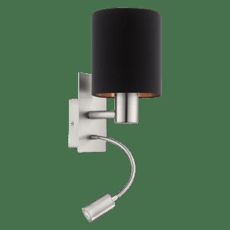 Απλίκα Ø15cm Σε Μαύρο με Χάλκινο Χρώμα Με Βοηθητικό Φως LED 3,5W Pasteri 96483