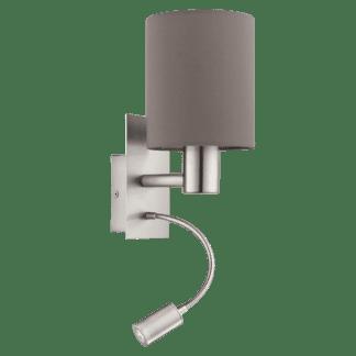 Απλίκα με Καπέλο Ø15cm Χρώμα Καφέ-Ανθρακί Με Βοηθητικό Φως LED 3,5W Pasteri 96481