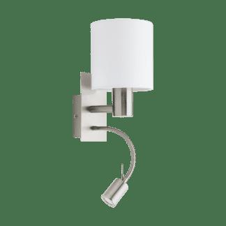 Απλίκα με Καπέλο Ø15cm Χρώμα Λευκό Με Βοηθητικό Φως LED 3,5W Pasteri 96477