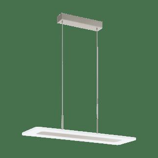 Κρεμαστό Φωτιστικό LED 19W, 300K Θερμό Φως, μήκους 68cm, Σε Νίκελ Σατινέ Χρώμα Manresa 96863