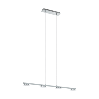 Κρεμαστό Φωτιστικό LED 4x4,5W, μήκους 77.5cm, Σε Χρώμιο & Σατινέ Χρώμα Cartama1 96525