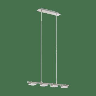 Κρεμαστό Φωτιστικό LED 4x4W Σε Νίκελ & Λευκό Χρώμα Mήκους 74,5cm Litago 97014