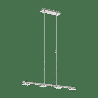 Κρεμαστό Φωτιστικό LED 4x5,5W, μήκους 95cm, Σε Σατινέ Νίκελ & Γυαλί Σατινέ LANIENA 97084