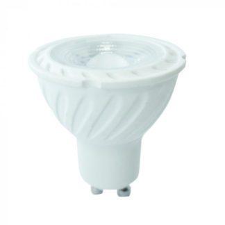 Λάμπα LED Spot GU10 Samsung chip SMD 7W Φυσικό λευκό 4000K Λευκό σώμα