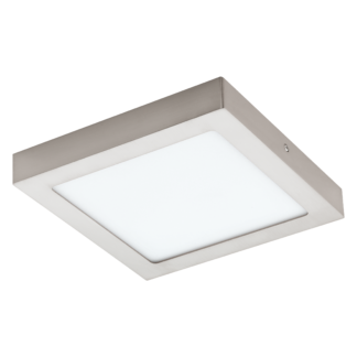 Πλαφονιέρα LED RGB 15.6W τετράγωνη 22.5cm, σώμα σατινέ νίκελ EGLO CONNECT FUEVA-C 96679