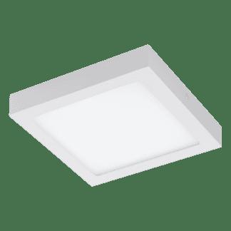 Πλαφονιέρα LED RGB 15,6W τετράγωνη 22,5cm, σώμα λευκό EGLO CONNECT FUEVA-C 96672