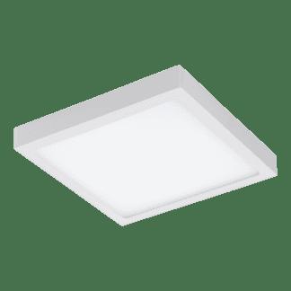 Πλαφονιέρα LED RGB 21W τετράγωνη 30cm, σώμα λευκό EGLO CONNECT FUEVA-C 96673