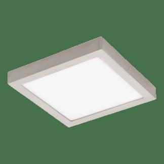 Πλαφονιέρα LED RGB 21W τετράγωνη 30cm, σώμα σατινέ νίκελ EGLO CONNECT FUEVA-C 96681