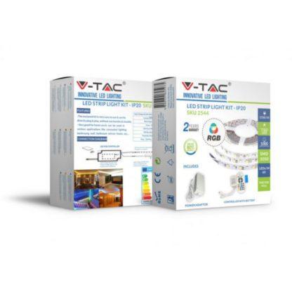 Σετ εύκαμπτης ταινίας LED SMD5050 60 LEDs RGB IP20 V-TAC 2558