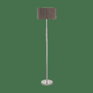 Φωτιστικό δαπέδου LED 24W Υ161,5cm θερμό φως 3000Κ dimmable με καπέλο Ø38cm ύφασμα καφέ ROMAO 2 95344