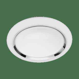 Φωτιστικό οροφής-τοίχου LED RGB 17W στρογγυλό Ø34cm, σώμα λευκό με χρώμιο EGLO CONNECT CAPASSO-C 96686