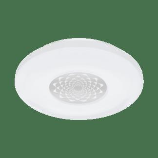 Φωτιστικό οροφής-τοίχου LED RGB 17W στρογγυλό Ø34cm, σώμα λευκό με χρώμιο EGLO CONNECT CAPASSO-C 96821