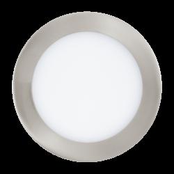 Φωτιστικό χωνευτό LED 10.5W RGB, σώμα σατινέ νίκελ , στρόγγυλο Ø17cm EGLO FUEVA-C 32754