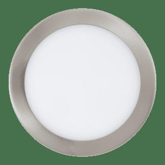 Φωτιστικό χωνευτό LED 15.6W RGB, σώμα σατινέ νίκελ , στρόγγυλο Ø22.5cm EGLO FUEVA-C 96676