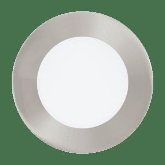 Φωτιστικό χωνευτό LED 5.4W RGB, σώμα σατινέ νίκελ , στρόγγυλο Ø12cm EGLO FUEVA-C 32753