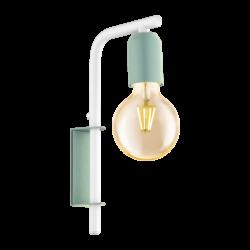 Απλίκα clean coziness, μέταλλο παστέλ ανοιχτό πράσινο με λευκό EGLO ADRI-P 49118