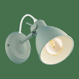 Απλίκα clean coziness, μέταλλο παστέλ ανοιχτό πράσινο EGLO PRIDDY-P 49096
