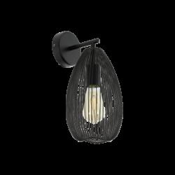 Απλίκα vintage μέταλλο μαύρο EGLO CLEVEDON 49143