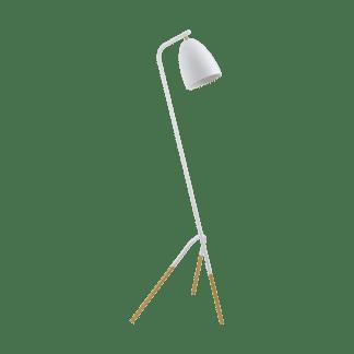 Επιδαπέδιο φωτιστικό clean coziness, μέταλλο σε χρώμα λευκό με χρυσό EGLO WESTLINTON 49944