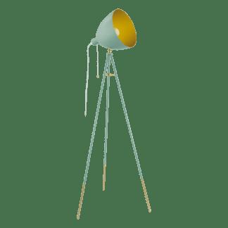 Επιδαπέδιο φωτιστικό clean coziness, μέταλλο σε χρώμα παστέλ σκούρο πράσινο με χρυσό EGLO CHESTER-P 49048