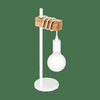 Επιτραπέζιο φτιστικό vintage, χρώμα φυσικού ξύλου & λευκό EGLO TOWNSHEND 33163