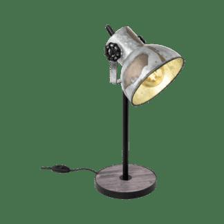 Επιτραπέζιο φωτιστικό Υ40cm μέταλλο & ξύλο EGLO BARNSTAPLE 49718