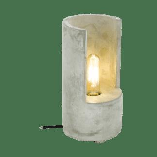 Επιτραπέζιο φωτιστικό clean coziness, Υ27cm, μπετό σε χρώμα γκρι EGLO LYNTON 49111