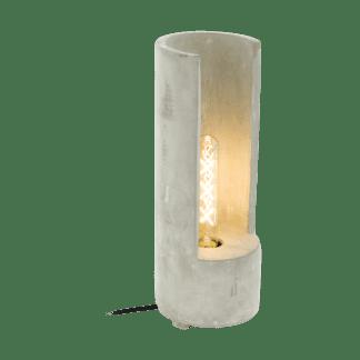 Επιτραπέζιο φωτιστικό clean coziness, Υ37cm, μπετό σε χρώμα γκρι EGLO LYNTON 49112