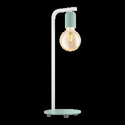 Επιτραπέζιο φωτιστικό clean coziness, μέταλλο παστέλ ανοιχτό πράσινο με λευκό EGLO ADRI-P 49119