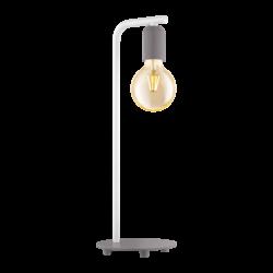Επιτραπέζιο φωτιστικό clean coziness, μέταλλο παστέλ γκρι με λευκό EGLO ADRI-P 49116