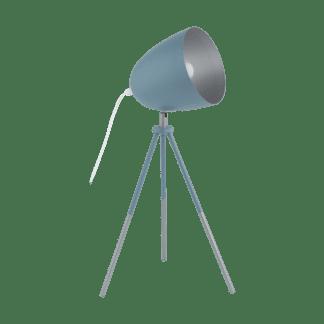 Επιτραπέζιο φωτιστικό clean coziness, μέταλλο σε χρώμα παστέλ σκούρο μπλε με ασημί EGLO CHESTER-P 49045