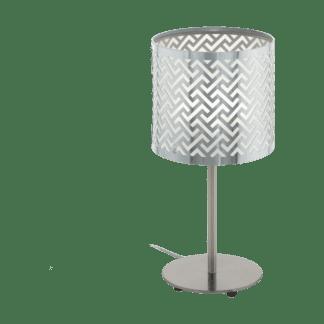 Επιτραπέζιο φωτιστικό clean coziness, σε χρώμα ασημί EGLO LEAMINGTON1 49167