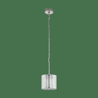 Κρεμαστό φωτιστικό clean coziness, Ø17.5cm μέταλλο σε χρώμα ασημί EGLO LEAMINGTON1 49164