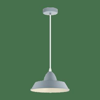 Κρεμαστό φωτιστικό clean coziness, Ø26cm μέταλλο σε χρώμα παστέλ ανοιχτό μπλε EGLO AUCKLAND-P 49052