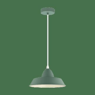 Κρεμαστό φωτιστικό clean coziness, Ø26cm μέταλλο σε χρώμα παστέλ σκούρο πράσινο EGLO AUCKLAND-P 49056